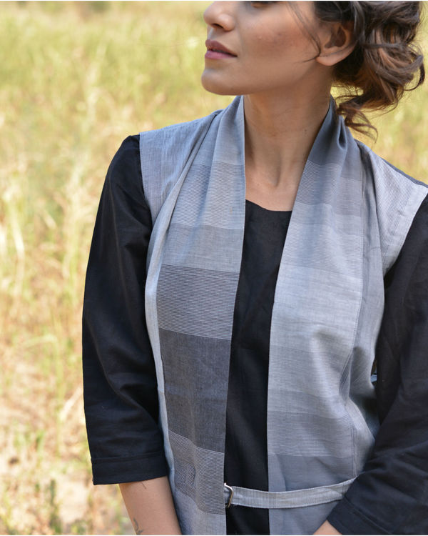 Grey shaded Jacket dress 2