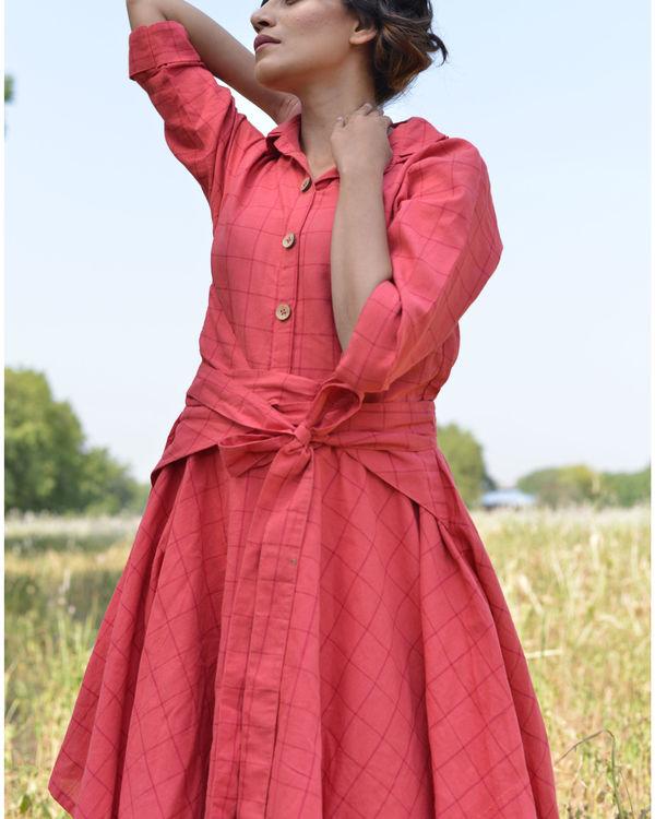 Peach trench dress 3