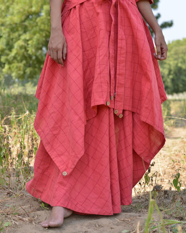 Peach trench dress 2