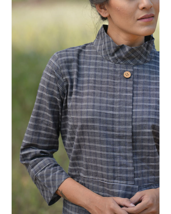 Coal high neck dress 3