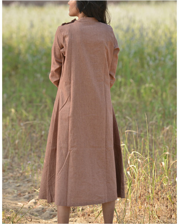Brown trench dress 2