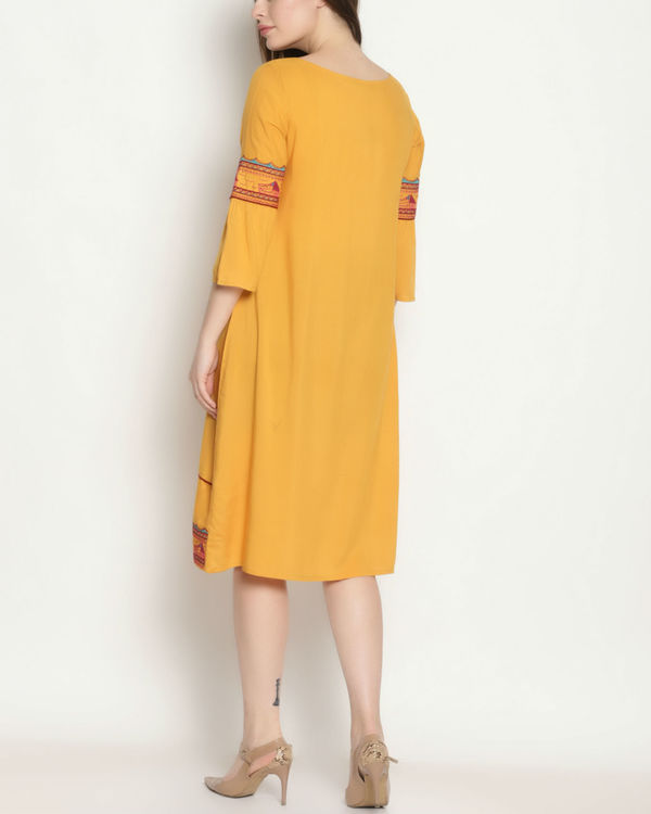 Yellow embroidered dress 2