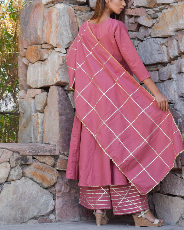 Moss rose kurta set with dupatta 2