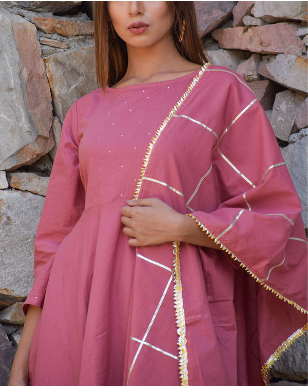 Moss rose kurta set with dupatta 1