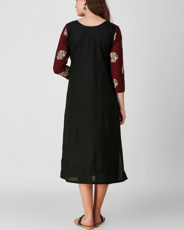 Black applique kalamkari kurta 1