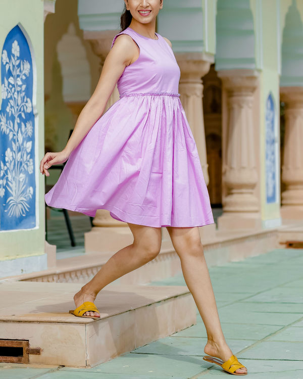 Short mauve dress 1