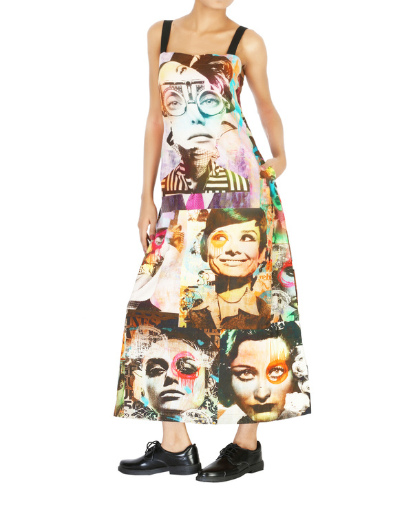 Collage print long dress 2