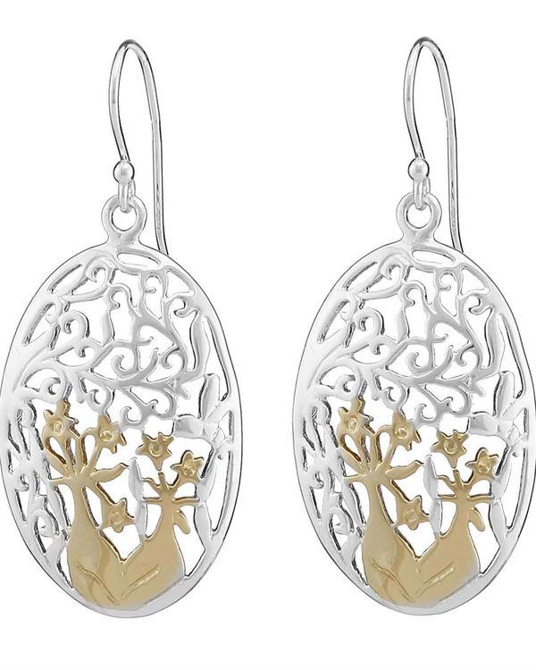 Oval jaal earrings 1