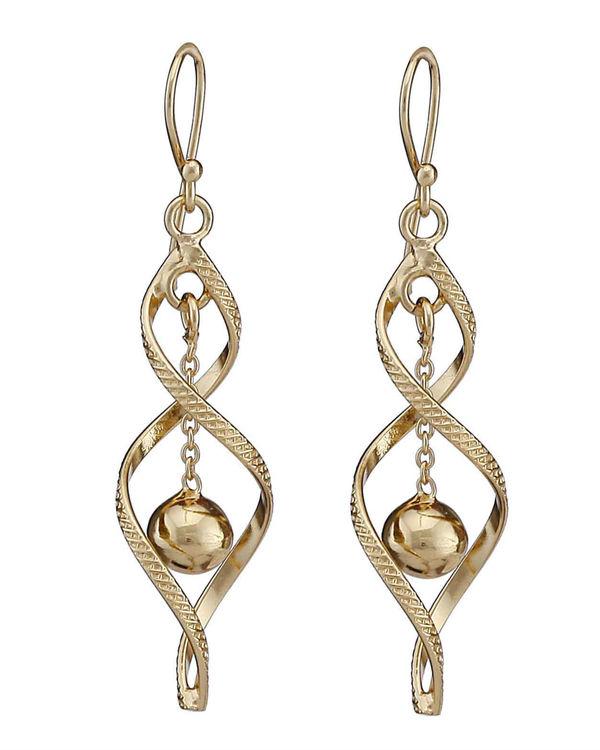 Spiral pendulum earrings 1