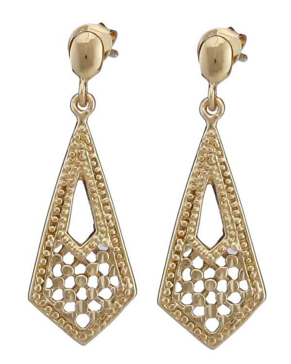 Carved kite earrings 1
