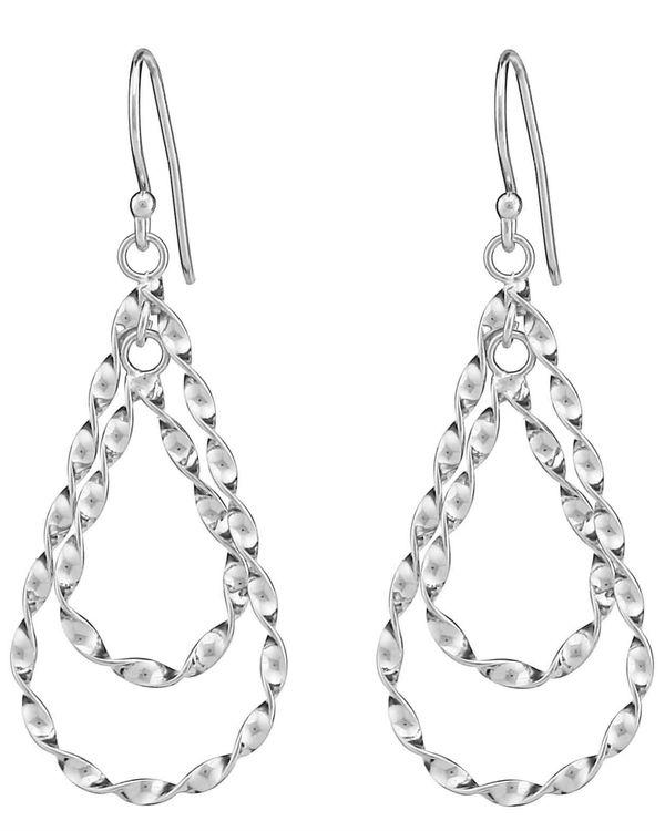 Silver twisted earrings 1