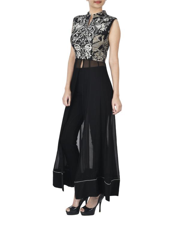 Black tunic with zardozi embroidery 1
