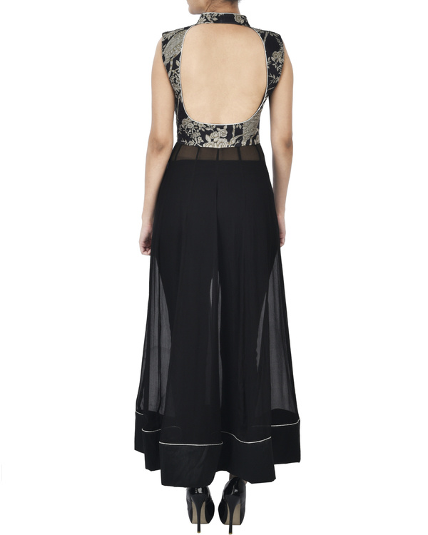Black tunic with zardozi embroidery 2