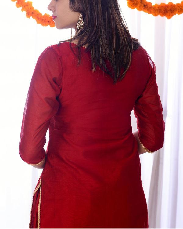 Red gota kurta set 1