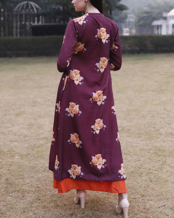 Printed rose jacket dress 2