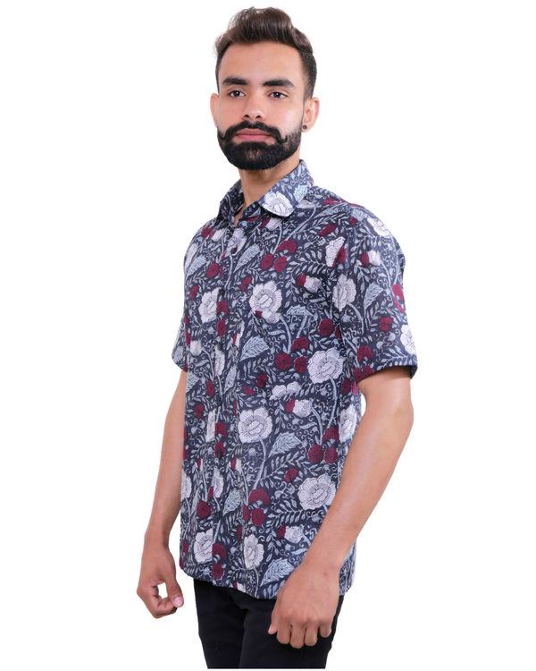 Garden printed cotton shirt 2