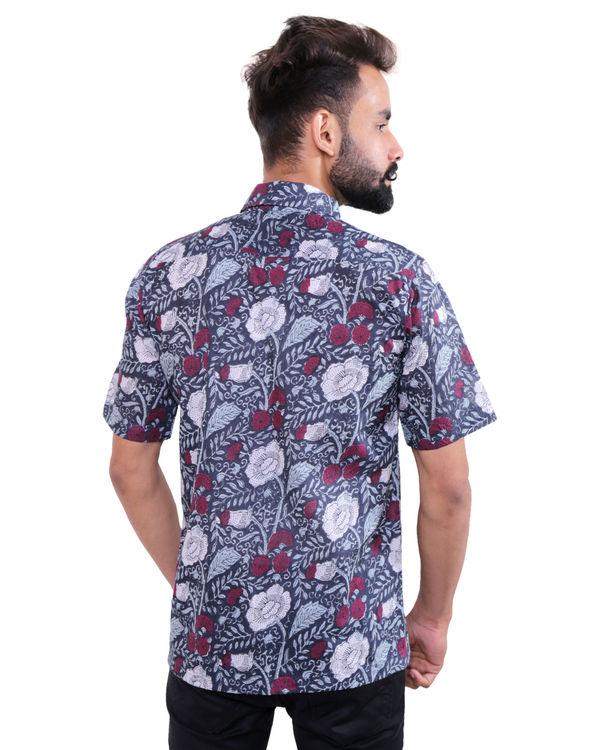 Garden printed cotton shirt 1