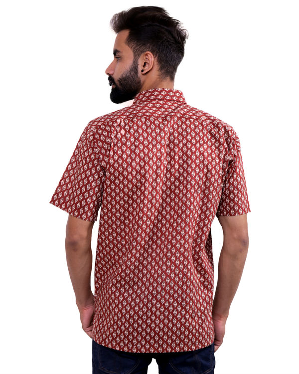 Maroon all-over print shirt 2