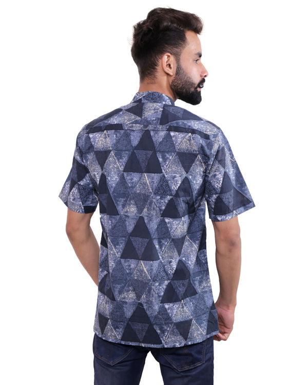 Blue grey triangle shirt 2