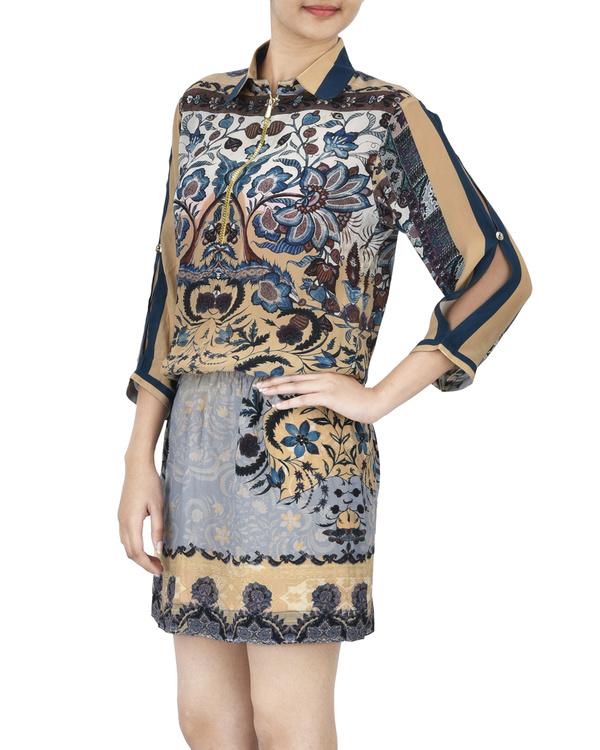 Mosaic print dress 1