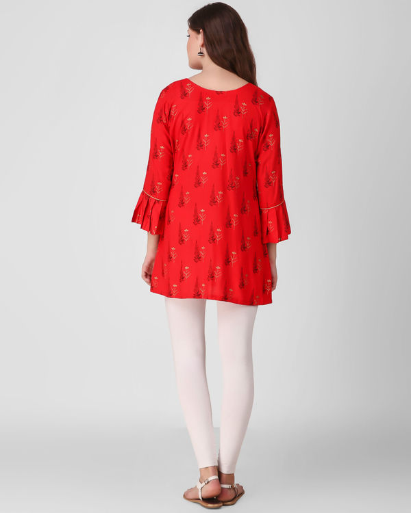 Red frill sleeve tunics 2