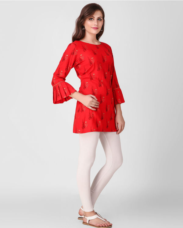 Red frill sleeve tunics 1
