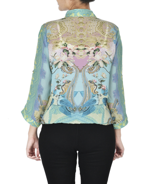 Pastel blue digitally printed shirt 2