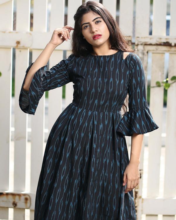 Flared ikat dress 1