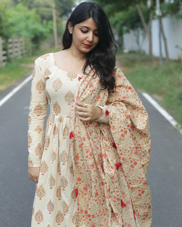 Block printed anarkali 1