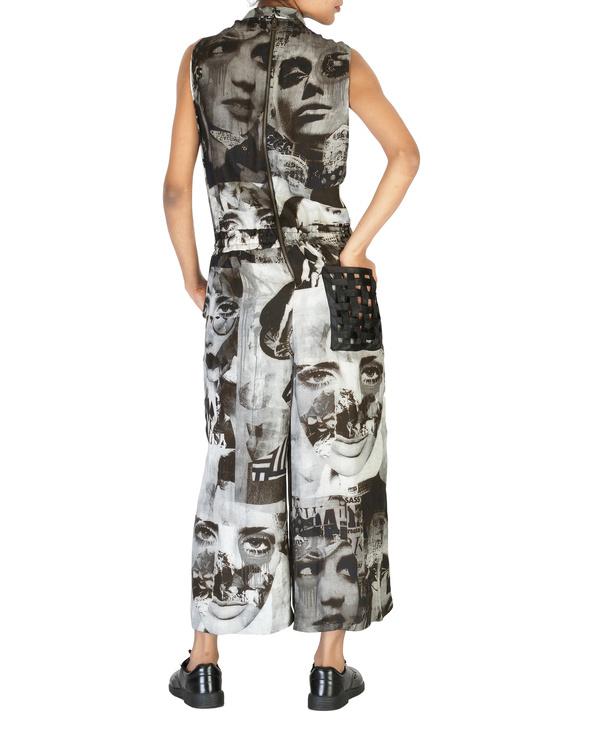 Collage print jumpsuit 1