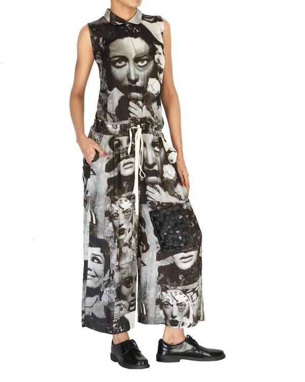 Collage print jumpsuit 2