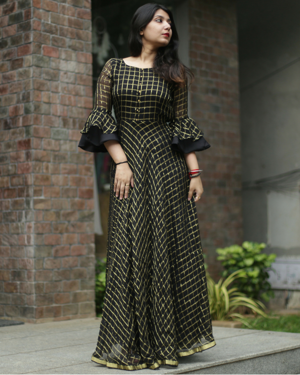 Black and gold zari dress 1