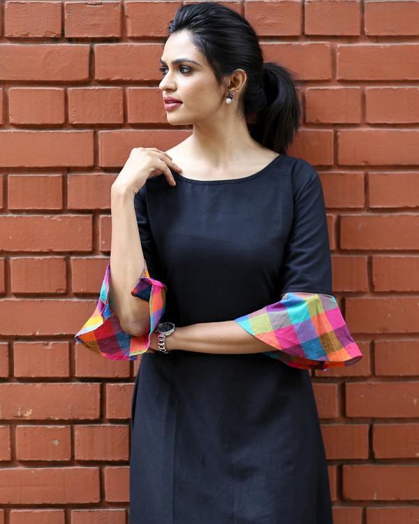 Multicolour checks dress 1