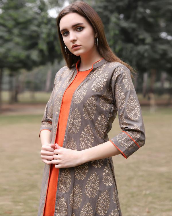 Orange midi dress 1