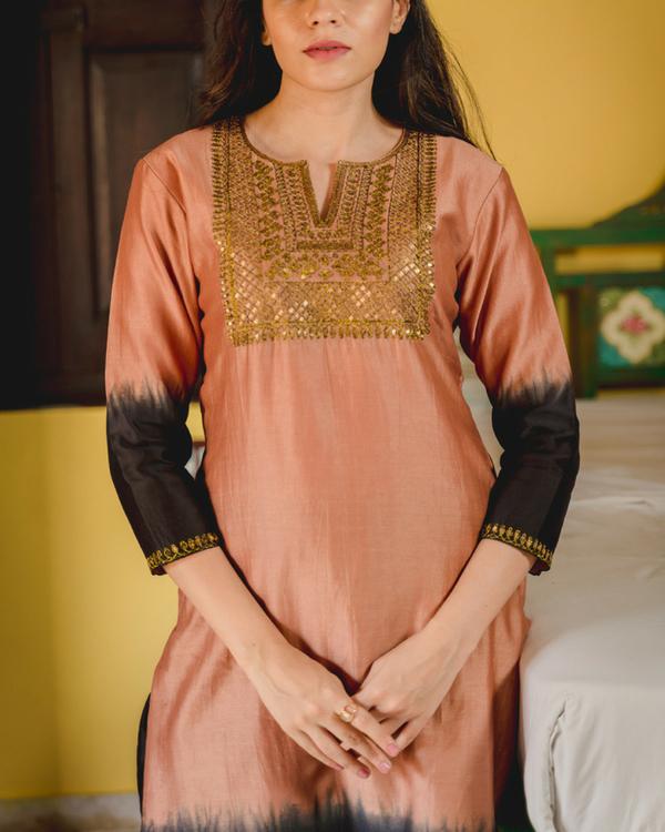 Gulfam aari kurta with dupatta 2