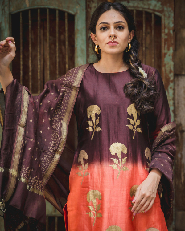 Falak kurta set with dupatta 2