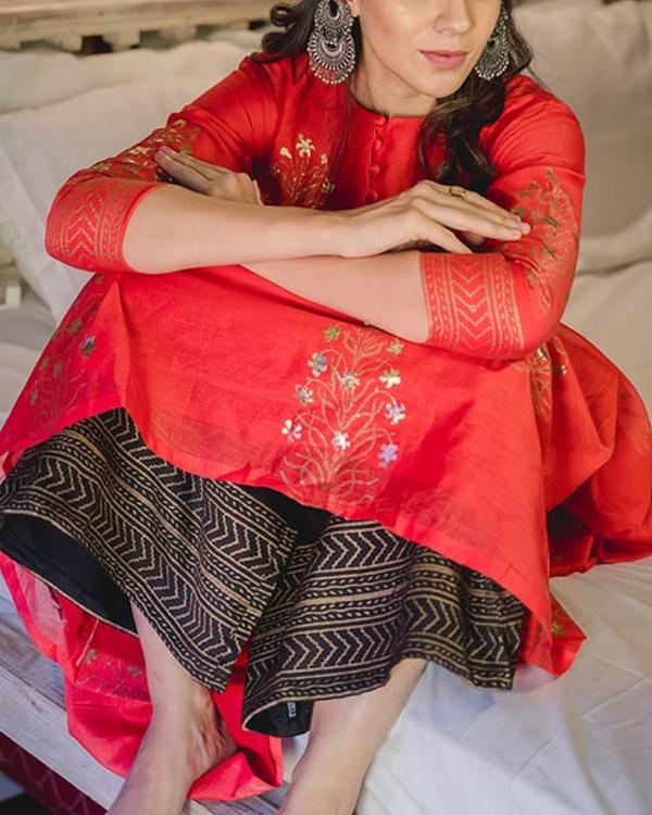 Zubeida foil dress & palazzo 2