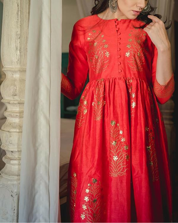 Zubeida foil dress & palazzo 1