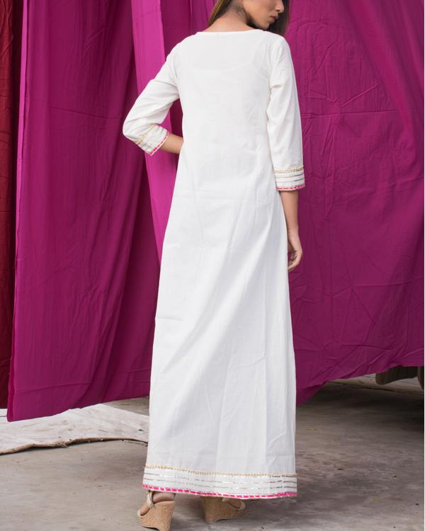 White block printed tunic 2