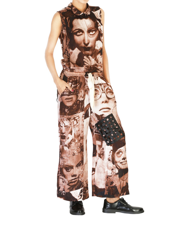 Collage print jumpsuit 2