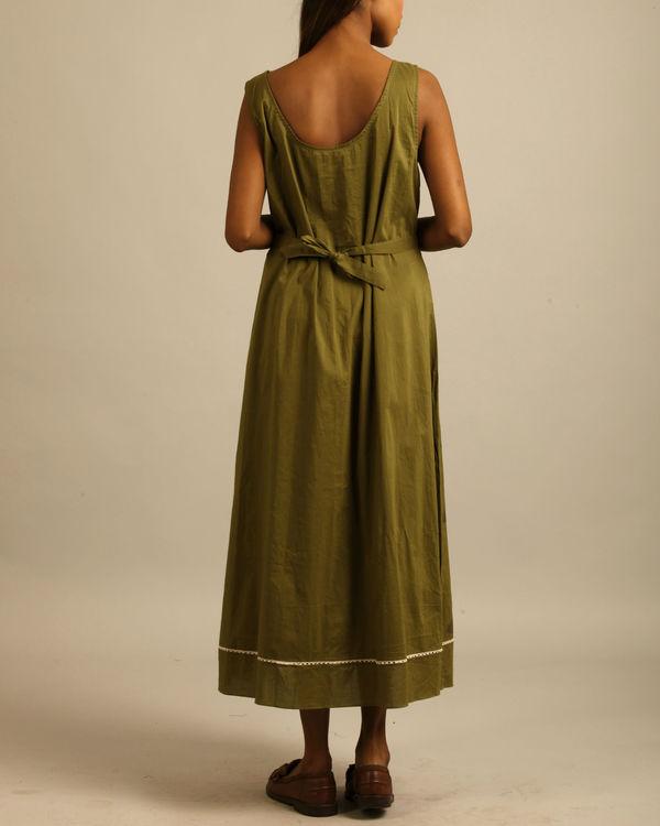 Green lotus block print tunic 3