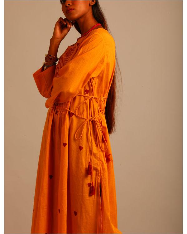 Yellow asymmetric tassels dress 2