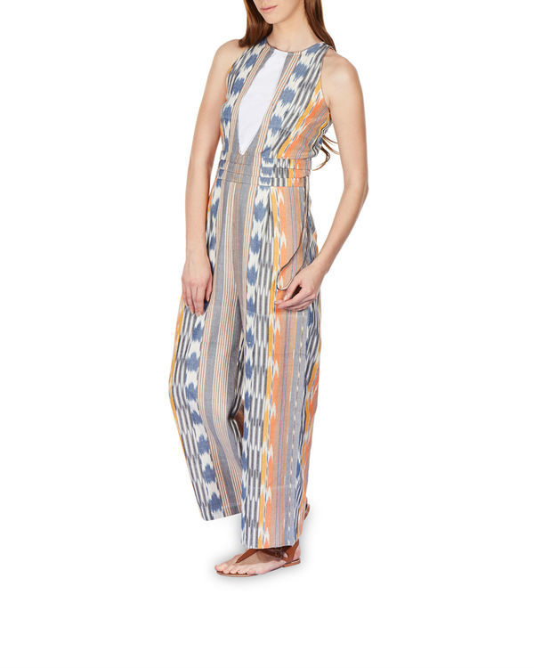 Striped ikat jumpsuit 1