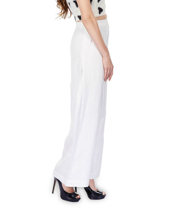 Side pleated palazzo pants 1