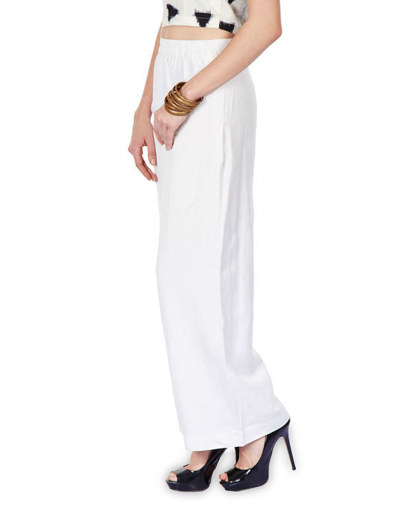 Side pleated palazzo pants 2