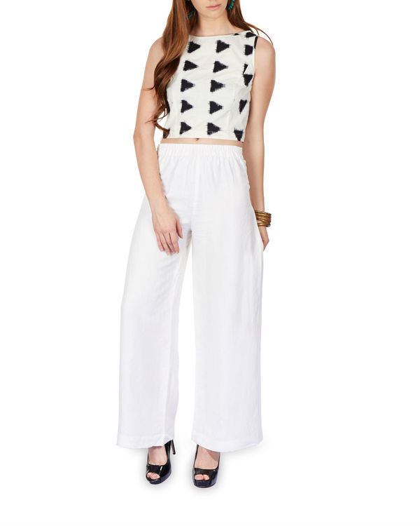 Side pleated palazzo pants 3