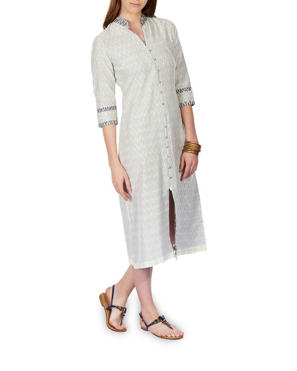 Layered ikat dress 1