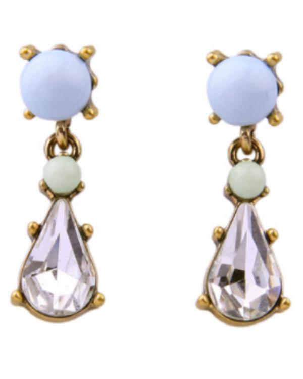 Blue water drop earrings 1