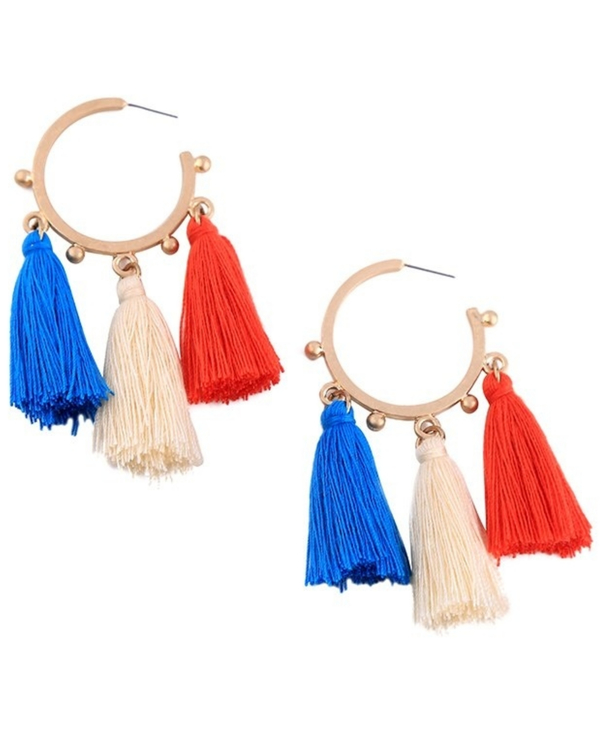 Colorful tassel earrings 1