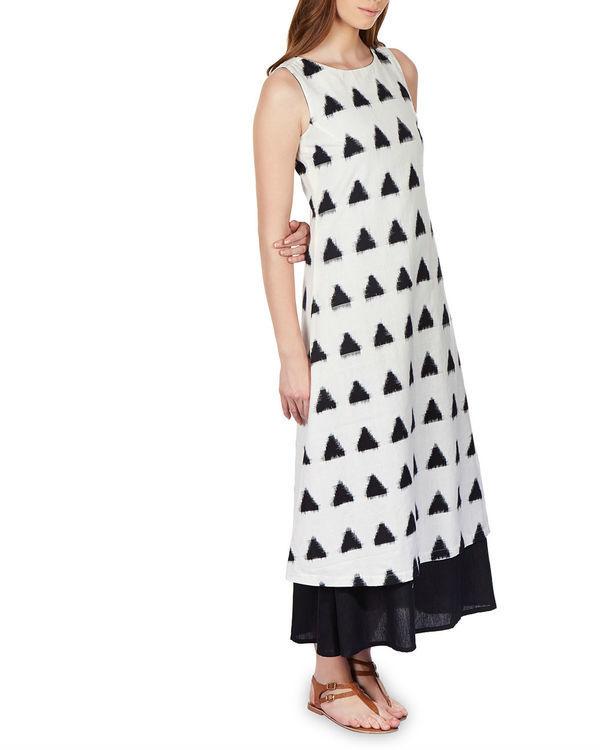 Layered ikat maxi dress 1